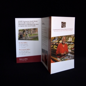 Another view of Z-fold brochure