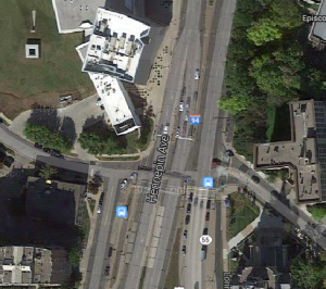 Hennepin and Lyndale at Groveland, courtesy of Google Maps