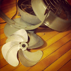 fan in pieces